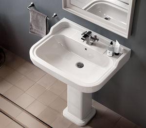 lavabo da terra / rettangolare / in ceramica / classico