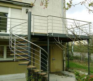 balcone a sbarre / in legno / in acciaio / in acciaio galvanizzato