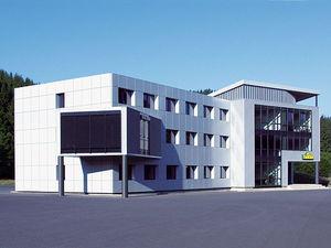 edificio prefabbricato / modulare / in vetro / in alluminio