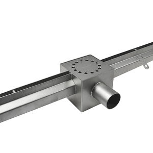 canaletta di drenaggio in acciaio inossidabile / a fessura centrale / da pavimento / per terrazza