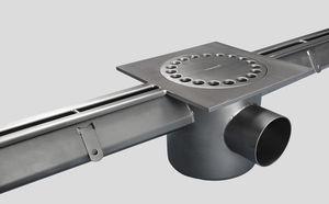 canaletta in acciaio inox / a fessura centrale / da pavimento