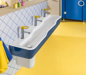 bagno moderno / in ceramica / contract