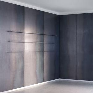 pannello in metallo in acciaio / da parete / contract