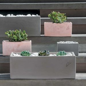 fioriera in terracotta / rettangolare / moderna