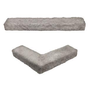 paramento in pietra ricostituita / da esterno / testurizzato / aspetto pietra
