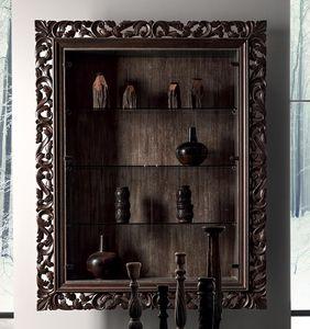 vetrina in stile / da parete / in quercia / in pioppo