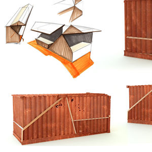 costruzione di container commerciale / per ristorante / per negozio