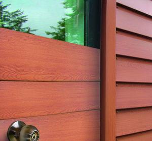 rivestimento di facciata in pannelli / a doghe / a cassetta / in acciaio