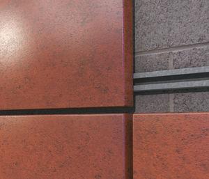 rivestimento di facciata in pannelli / a cassetta / in acciaio / dipinto