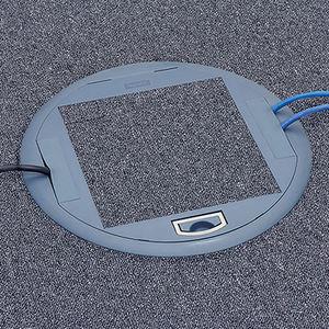 scatola per prese di corrente a pavimento