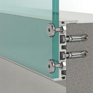 sistema di fissaggio in alluminio