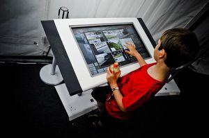 touch screen da parete