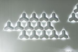 applique moderna / in acciaio / LED / IP20