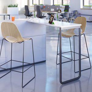 sedia alta moderna / con poggiapiedi / a slitta / imbottita