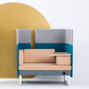 divano modulare / moderno / in tessuto / contract