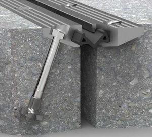 giunto di dilatazione in gomma / in alluminio / per costruzione di ponti / impermeabile