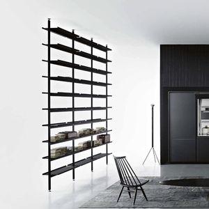 scaffale pavimento-soffitto / moderno / in alluminio / in laminato