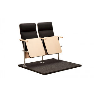 sedia per auditorium moderna / pieghevole / imbottita / con tavoletta
