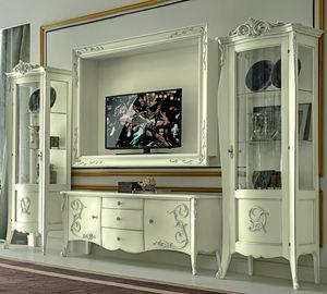 parete attrezzata TV in stile