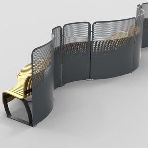 separatore di spazi in acciaio con rivestimento a polvere
