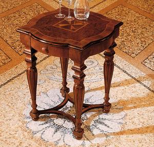 tavolino classico / in legno / quadrato / con cassetti