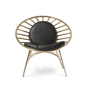 sedia moderna / imbottita / con cuscino rimovibile / in tessuto