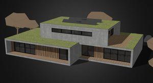 edificio passivo / prefabbricato / in legno / struttura in legno