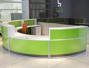 banco reception a semicerchio