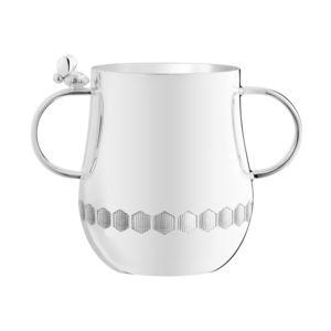 tazza in metallo argentato