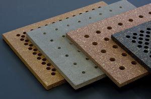 pannello acustico in agglomerato / per interni / in cemento / perforato