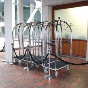 carrello portabagagli / contract / per hotel / in acciaio inox