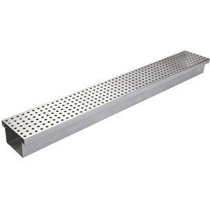 canaletta in acciaio inox / in acciaio galvanizzato / con griglie / piatta
