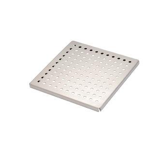 chiusino in acciaio inossidabile / quadrato / prefabbricato / su misura