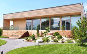 casa prefabbricata / moderna / in legno lamellare / ecologica