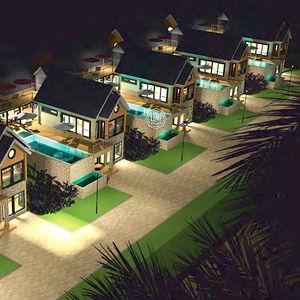 edificio prefabbricato / in legno lamellare / per uso residenziale / moderno