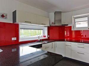 pannello decorativo in vetro / per cucina / liscio / personalizzato