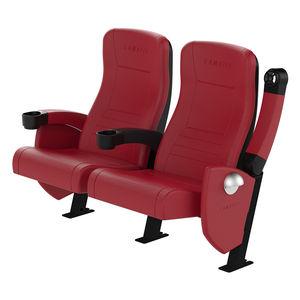 poltrona per cinema in tessuto / in pelle / imbottita / reclinabile