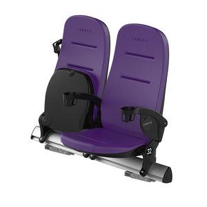 poltrona per auditorium moderna / in ecopelle / imbottita / ergonomica