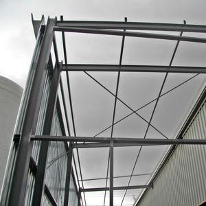 carpenteria metallica per costruzioni industriali / in acciaio galvanizzato / spaziale