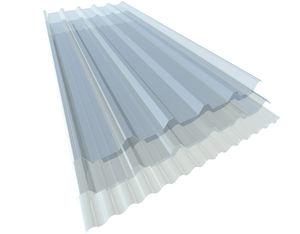 pannello in policarbonato ondulato / per tetto / per rivestimento di facciata / traslucido