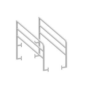 ringhiera in metallo / a sbarre / da esterno / per piattaforma