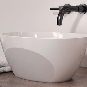 lavabo da appoggio / ovale / in Solid Surface / moderno