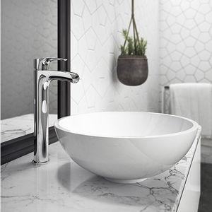 lavabo da appoggio / tondo / in Solid Surface / moderno