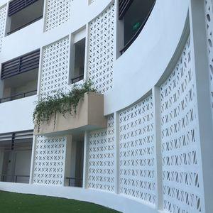 blocco di calcestruzzo semipieno / decorativo / per parete / per facciata