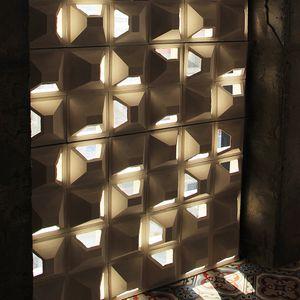 blocco di calcestruzzo forato / per muro / per parete / per muro divisorio