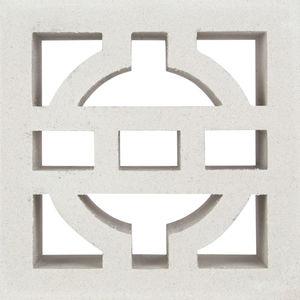 blocco di calcestruzzo forato / decorativo / per facciata / per muro