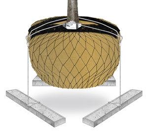 ancoraggio per zolla con traversa in calcestruzzo