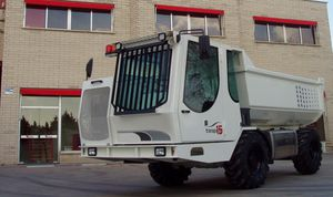 camion ribaltabile a scarico posteriore / gommato / diesel / per cantiere