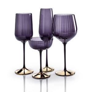 flûte per champagne in vetro soffiato / contract