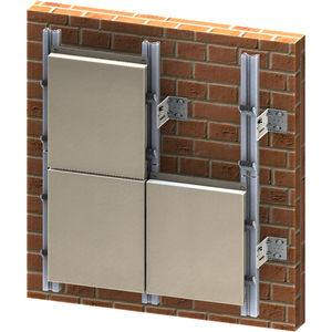 facciata ventilata in metallo / in fogli / liscia / con elemento di fissaggio